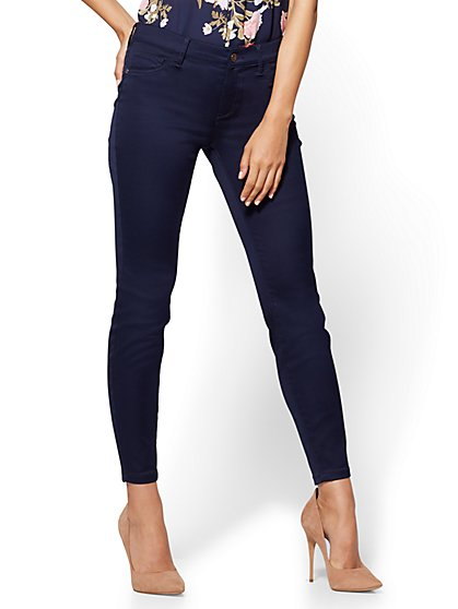 The Crosby Pant - Slim-Leg Ankle - Navy - Petite - New York & Company