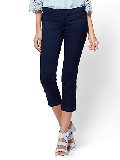 The Crosby Pant - Slim-Leg Crop - New York & Company