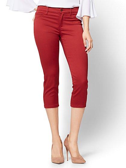 The Crosby Pant - Slim-Leg Crop - New York & Company