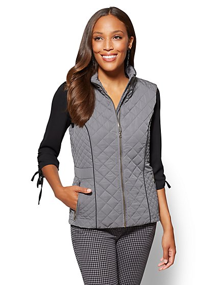 The Park Avenue Quilted Vest  - New York & Company