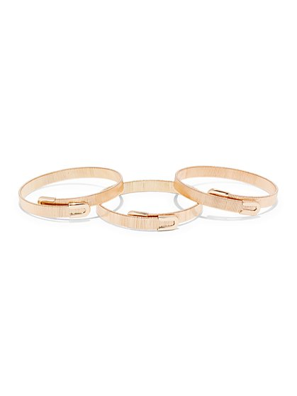 Three-Piece Coil Bangle Bracelet Set  - New York & Company