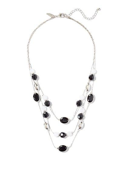 Three-Row Beaded Necklace - New York & Company