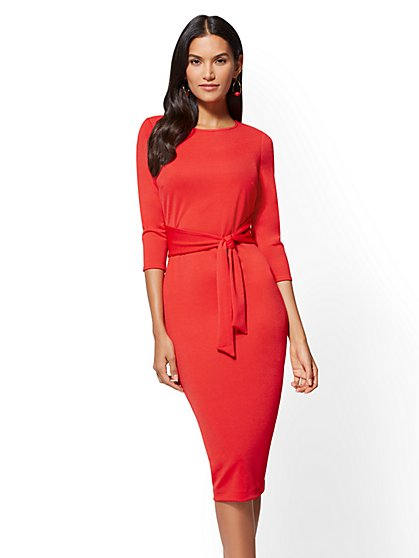 Tie-Front Sheath Dress - Tall - New York & Company