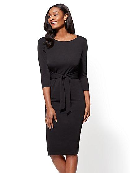 Tie-Front Sheath Dress - New York & Company