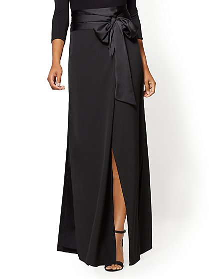 Tie-Front Wrap Maxi Skirt - New York & Company