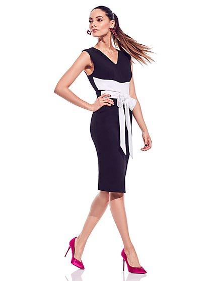 Tie Waist Sleeveless Sheath Dress - New York & Company
