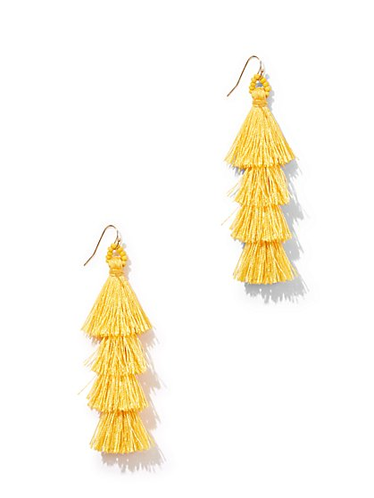 Tiered Tassel Drop Earring - New York & Company