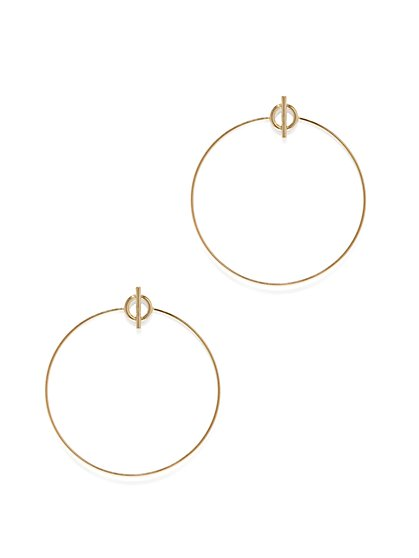 Toggle-Accent Hoop Earring  - New York & Company