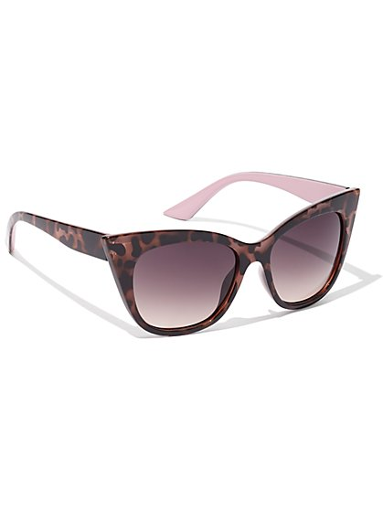 Tortoise Cat-Eye Sunglasses - New York & Company