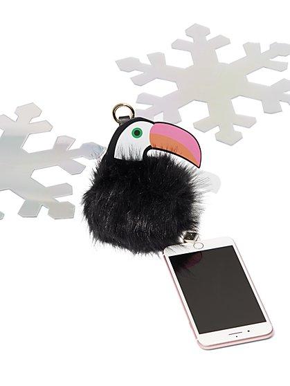 Toucan Pom-Pom Charging Keychain - New York & Company