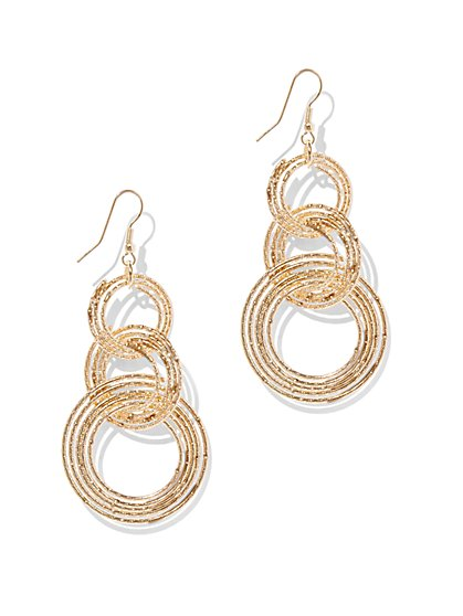 Triple Hoop-Drop Earring  - New York & Company