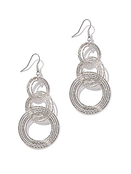 Triple Hoop-Drop Earring  - New York & Company