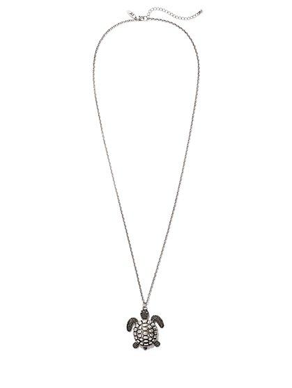 Turtle Pendant Necklace  - New York & Company
