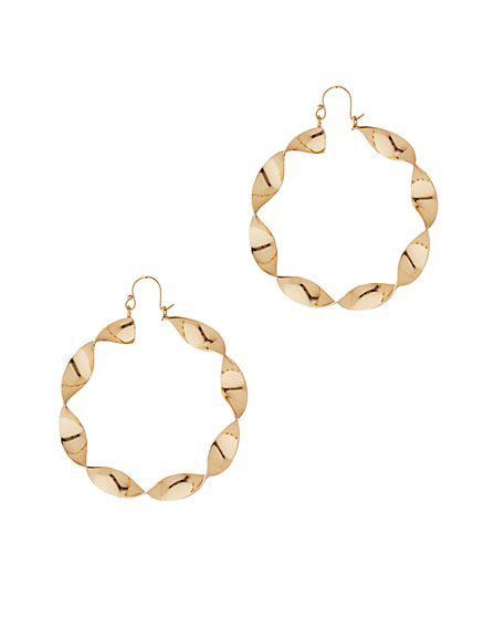 Twist Hoop Drop Earring - New York & Company