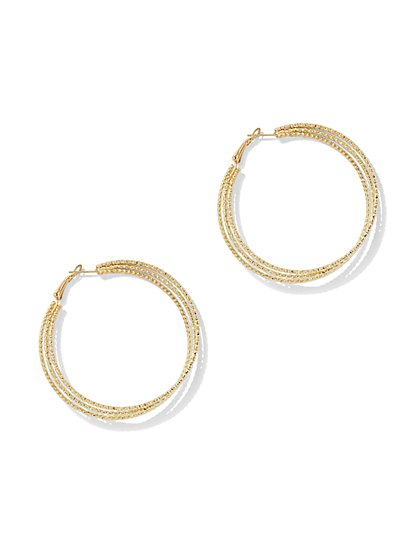 Twist Hoop Earring - New York & Company