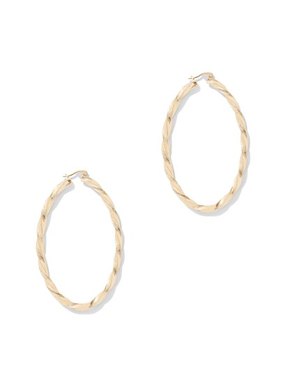Twist Oval Hoop Earrings - New York & Company