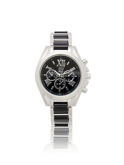 Two-Tone Link Watch - Goldtone - New York & Company