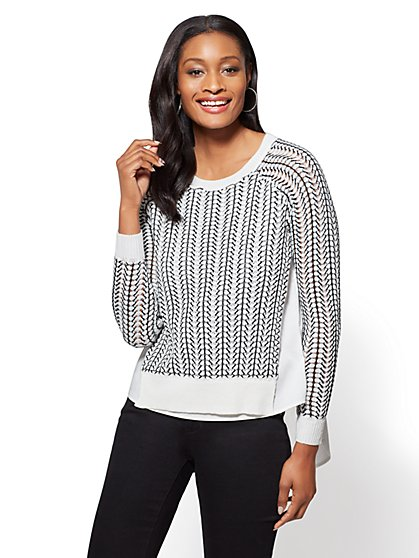 Two-Tone Twofer Sweater - New York & Company