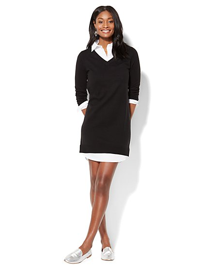 Twofer Sweater Dress  - New York & Company