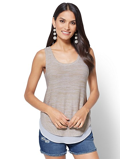Twofer Tank Sweater - New York & Company