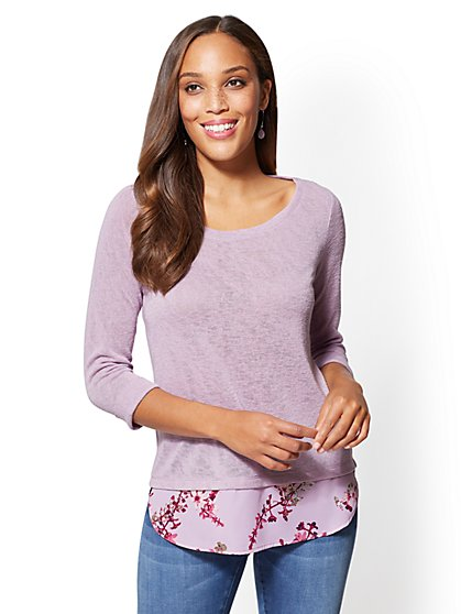 Twofer Top - Print - New York & Company