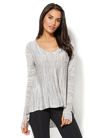 V-Neck Hi-Lo Sweater - New York & Company