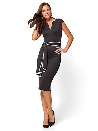 V-Neck Sheath Dress - New York & Company