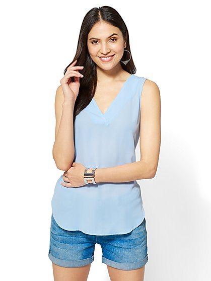 V-Neck Shell - New York & Company