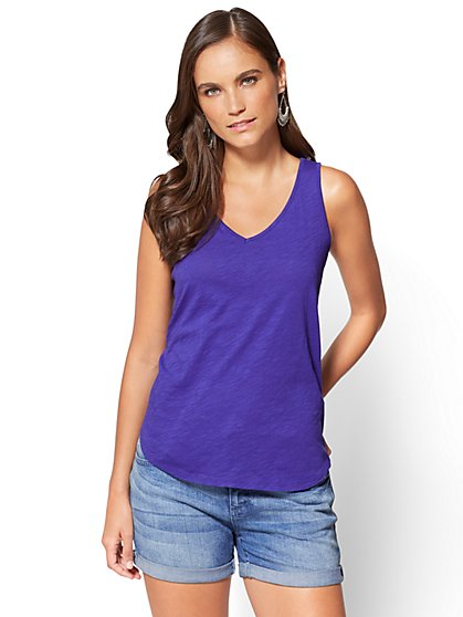 V-Neck Tank Top - New York & Company