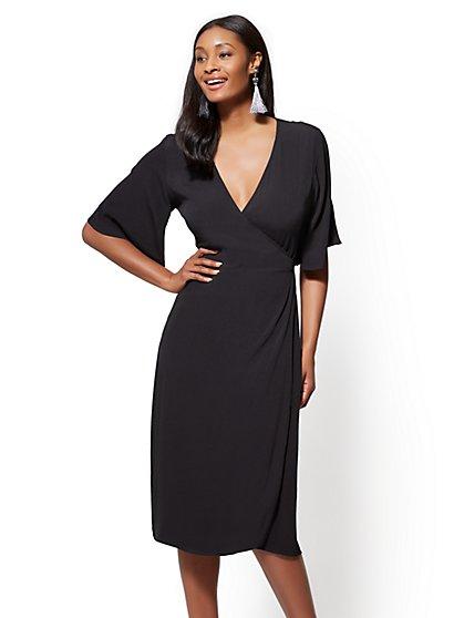 V-Neck Wrap Dress - New York & Company
