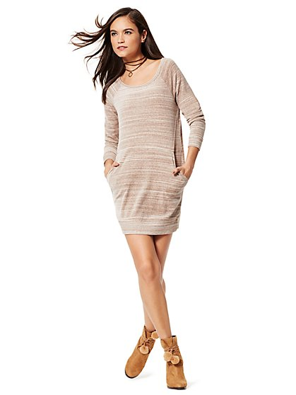 Velour Dress - New York & Company