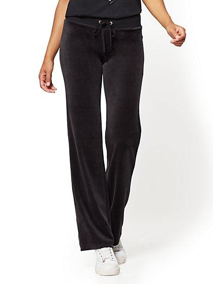 Velour Straight-Leg Pant - New York & Company