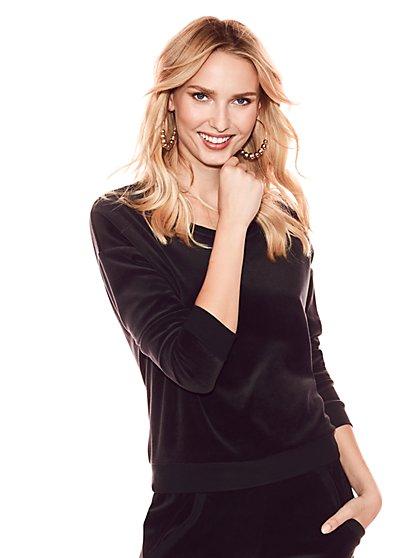 Velour Sweatshirt - New York & Company