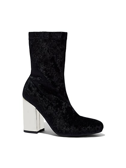 Velvet Ankle Boot - New York & Company
