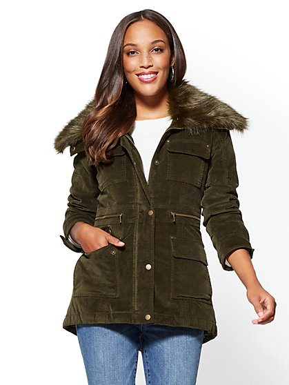 Velvet Anorak Jacket - New York & Company