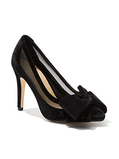 Velvet & Mesh Pump - New York & Company