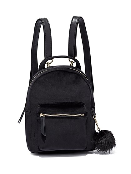 Velvet Mini Backpack  - New York & Company