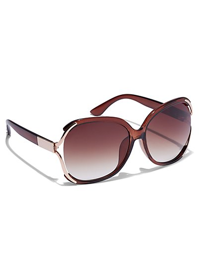 Vented Metal Sunglasses  - New York & Company