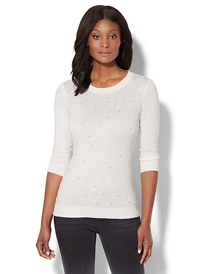 Waverly Crewneck Sweater - Embellished - New York & Company