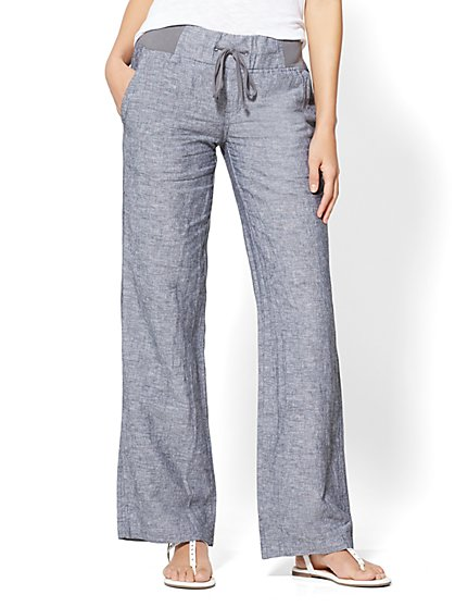 Wide-Leg Drawstring Pant - Petite - New York & Company