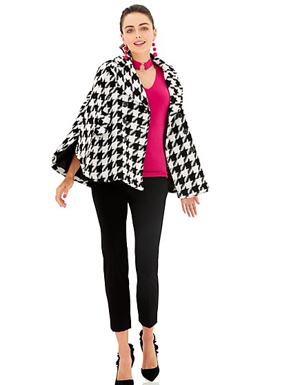 Wool Cape - Houndstooth  - New York & Company