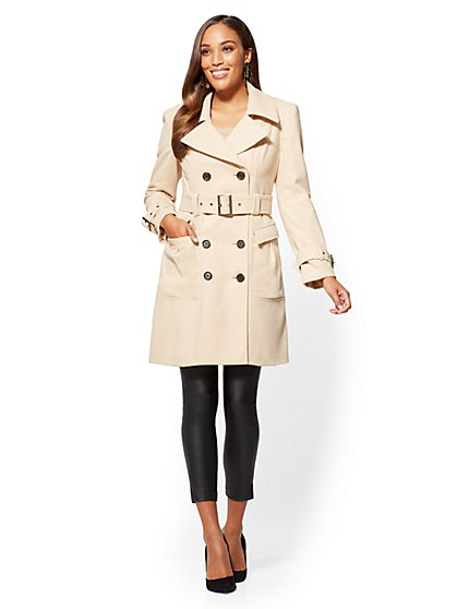 Wool Trench Coat - New York & Company