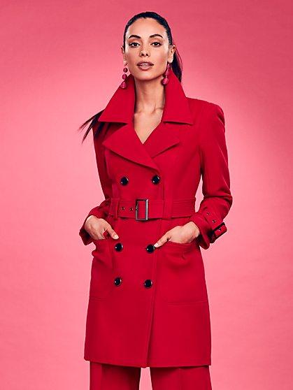 Wool Trench Coat - New York & Company
