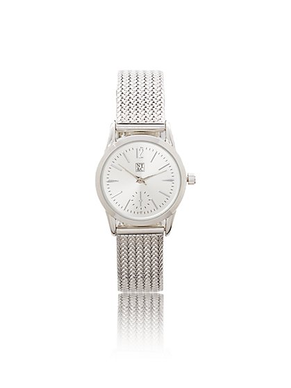 Woven Mesh Band Watch  - New York & Company