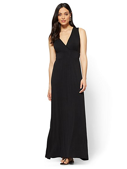 Wrap-Front Maxi Dress - New York & Company