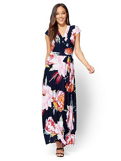 Wrap Maxi Dress - Floral - New York & Company
