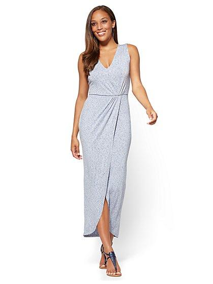 Wrap Maxi Dress - Space Dye - New York & Company