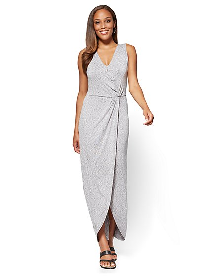 Wrap Maxi Dress - Space Dye - New York & Company