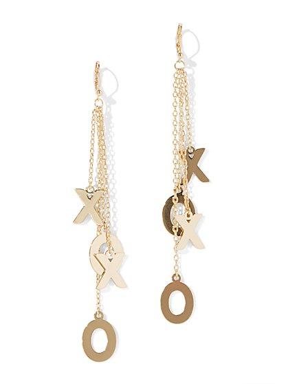 XOXO Linear Drop Earring - New York & Company