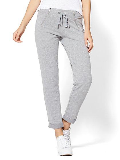 Zip-Accent Slim Jogger Pant - New York & Company